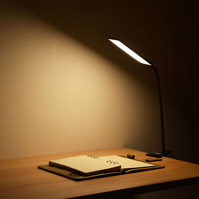 USA Stock USB Flexible Clip-On LED Desk Lamp Reading Light Table Book Light 5W