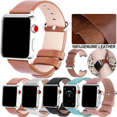 38 42mm 40 44mm Fullmosa Leather Watch Band Strap for Apple Watch Series 4 3 2 1