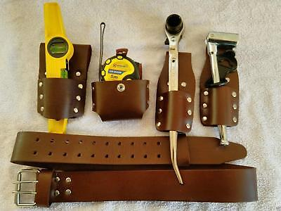 Scaffolding Brown thick Leather Tools Belt With Full Tool Set Top Quality New