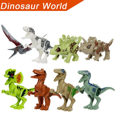 Funny Dinosaur DIY Building Blocks Action Figures Playset Educational Kids Gifts
