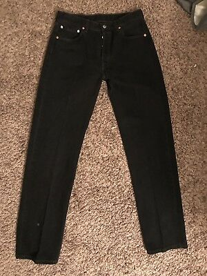 Vintage 501 Levis Black, Button Fly, Made In USA, W32 L32 CLEAN! NICE!