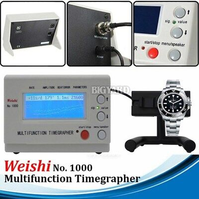 Weishi NO.1000 Timegrapher Watch Multifunction LCD Tester Timing Machine