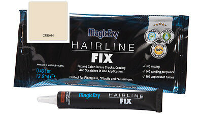 MagicEzy Hairline Fix: Repair & Color Gelcoat Cracks and Scratches (CREAM)