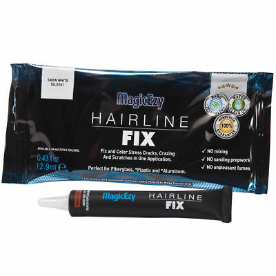 MagicEzy Hairline Fix: Repair & Color Gelcoat Cracks and Scratches (SNOW WHITE)