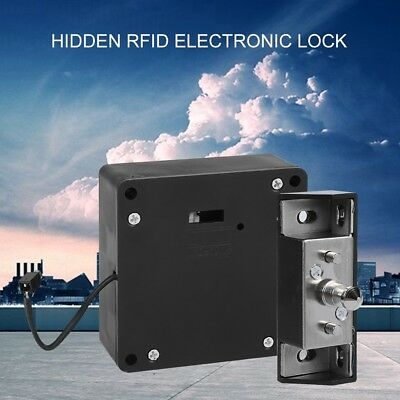 Invisible Lock RFID Electronic Cabinet Door Locking Black Smart Drawer Locker