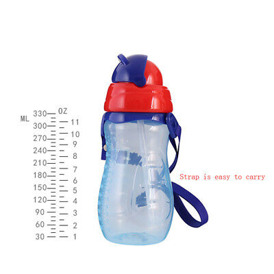 Baby Kids Infants Children Feeding Drinking Water Straw Bottle Sippy Suction Cup