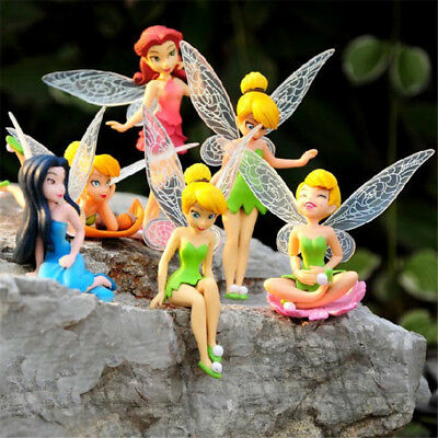 6pcs/set Flower Pixie Fairy Miniature Figurine Dollhouse Garden Ornament New