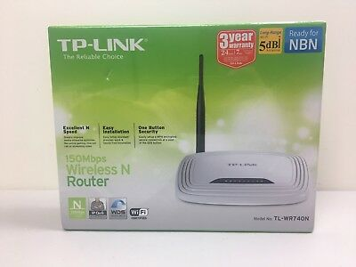 TP Link TL-WR740N 150Mbps Wireless N Router Brand New Sealed