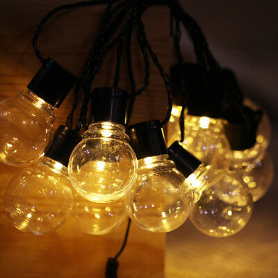 Vintage Retro Bulb Solar Fairy String Light Lamp Outdoor Garden Patio Yard Decor