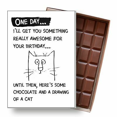 Funny Birthday Gift Cat Lover Wwner Men Women Silly Chocolate Greeting Card UK