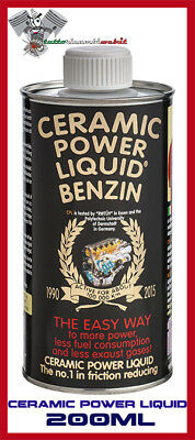 Ceramic Power Liquid Benzin 200 Ml Additivo Motore Anti Attrito Fino A 1.000Cc