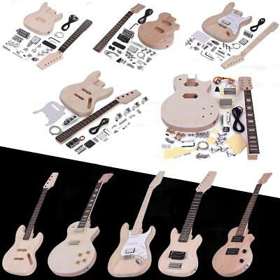 Hot Students Adult DIY Electric Guitar Kit ST LP Style 4/6 String Full Accessory