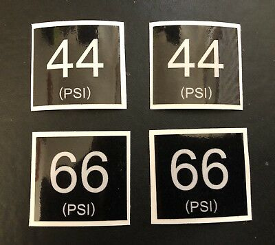 Military Land Rover Snatch Tyre Pressures Decals 44Psi 66Psi