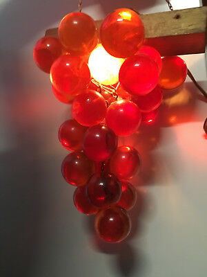 Retro/Vintage Hanging Grape Cluster Lucite Light