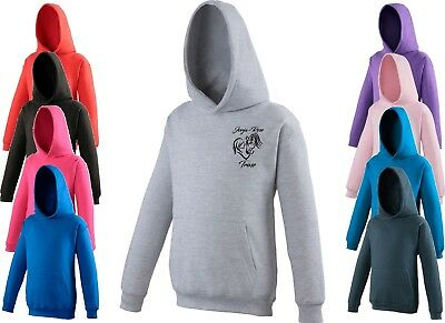 Child Kids Personalised Horse & Rider Equestrian  Pony Riding Hoodie