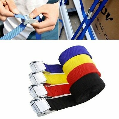4PCS Metal Cam Buckle Tie Down Nylon Quick Lock Strap Heavy Luggage Cargo Lash