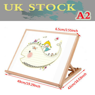 A2 Wooden Art Drawing Board Table Desk Canvas Workstation Sketch Easel Outdoor