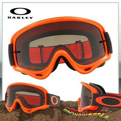 Maschera Occhiale Oakley O-Frame Mx Orange Gunmetal Lente Dark Smoke