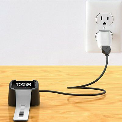 Charging Base Charger USB Data Charging Cable For Fitbit Versa Smart Watch