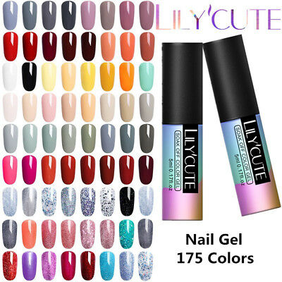 5ml 175 colori LILYCUTE Nail Art Smalto UV Gel Polish Semipermanente Soak off