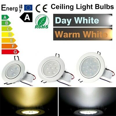 6 PACK 3W/7W/12W LED Recessed Ceiling Spot Light Tilt Spotlights Down light Lamp