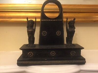 Very rare Bronze figure  clock holder