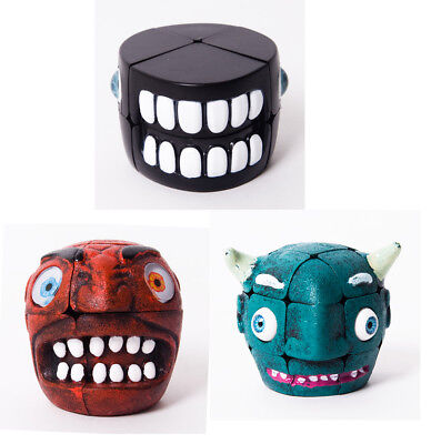 Novelty Christmas Gift Gothic Cool Carni Chaak Devil Ghost Jaw Magic Cube Puzzle