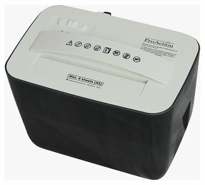ProAction Paper Shredder 8 Sheet 4.5 Litre Cross Cut A5 Desktop Auto on Reverse