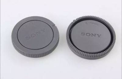 SONY Logo Camera Body Cap + Rear Lens Cap for Sony NEX-3N NEX-7 E-Mount UK STOCK