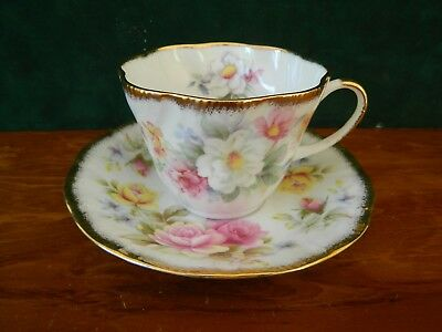 Beautiful Queen's Summer Flowers Cup And Saucer