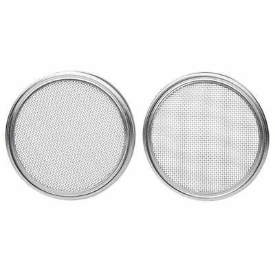 Stainless Steel Sprouting Lids for Wide Mouth Mason Jars Strainer Lid S6N2
