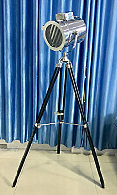 Unidecor Vintage Replica Nautical Searchlight Theatre Spotlight With Stand