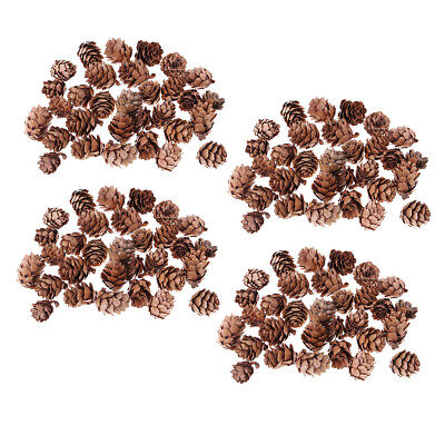 120pcs Rustic Decorative Pinecone Vase Bowl Filler Display Table Decoration