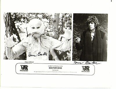 Tom Baker Doctor Who Genuine Double Signed 8 x 10 Photograph