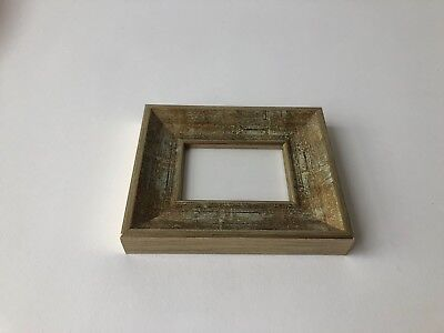 NEW Quality wooden ACEO Art card 3.5 x 2.5 picture frame with gold elements