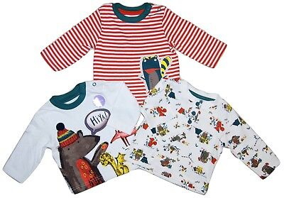 Baby Boy 3 PACK Long Sleeved Tops Ex Store