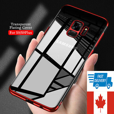 For Samsung S8 S9  S10 Plus Case Stylish Hybrid Shockproof Plating Silicone Case