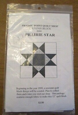 """PRAIRIE STAR Point  QUILT PATTERN with Precut Fabric for 12"""" Square Rustic Reds"""