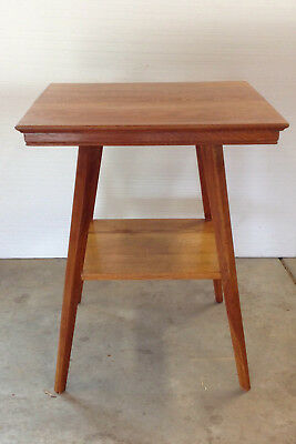 Two Tiered Square Oak Table