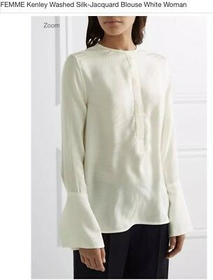 1760531121b846 EQUIPMENT FEMME WASHED Silk ButtonedT Blouse Tunic Long Sleeve Black ...