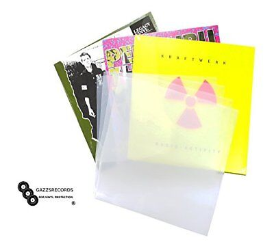 "100 x 12"" Inch Album Record Sleeves LP Outer Covers 520g Gauge Polythene Plastic"