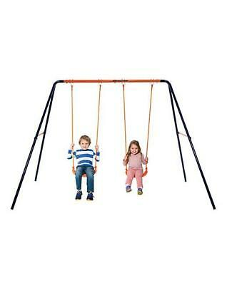 CHILDS BABY SWING Set Outdoor Garden Play Nursery Seat Steel Frame ...
