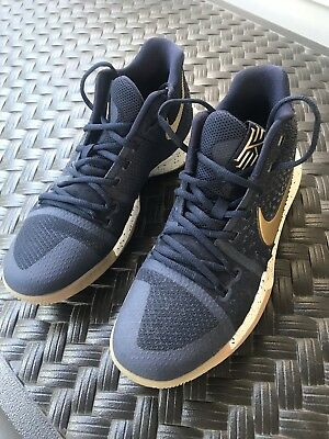 b333029a63ed Nike Kyrie 3 Obsidian 852395-400 Blue Gold Men s Basketball Shoes Size 9.5