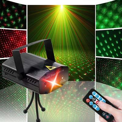 Mini Laser Projector Stage Lighting LED R&G Lights Party DJ Disco Green Star RC
