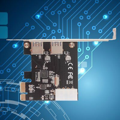 PCI-Express PCI-E to USB 3.0 2Port PC Expansion Adapter Card For Vista Win 7 ST