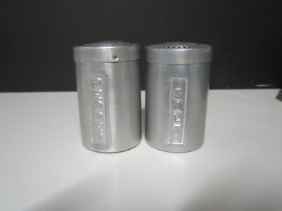 Vintage Aluminum Salt And Pepper Shakers Made In Italy