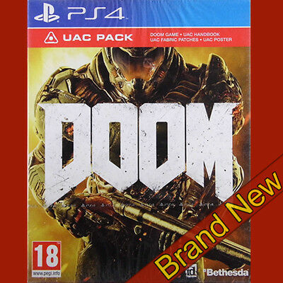 DOOM UAC PACK - PlayStation 4 PS4 ~18+ Brand New & Sealed!