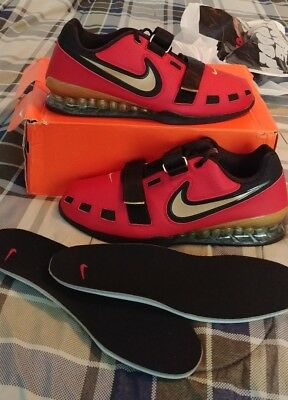 a545bba2aed1 Brand New Rare 11.5 Nike Romaleos 2 Mens Weightlifting Shoes Red Black Gold