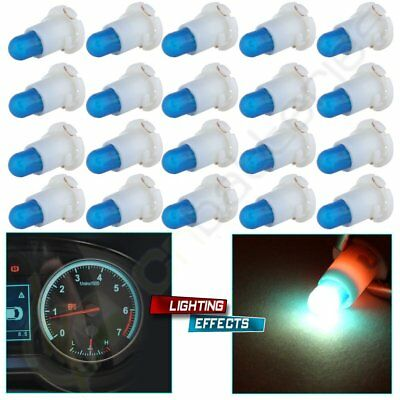 20Pcs Ice Blue T4/T4.2 Neo Wedge Halogen Bulbs A/C Climate Control Light Lamps