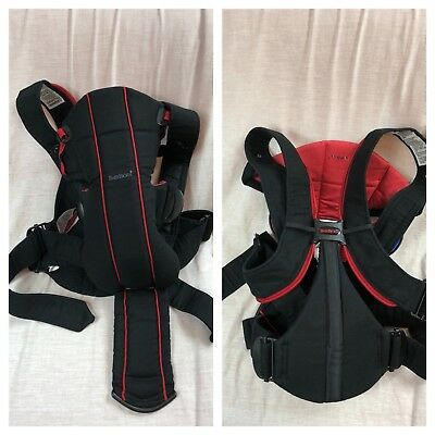 3a4eedf8541 BabyBjorn Baby Bjorn Active Baby Infant Carrier Lumbar Back Support - Black  Red